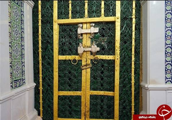 روی قفل درب خانه حضرت زهرا(س) چه نوشته شده است؟+ تصاویر