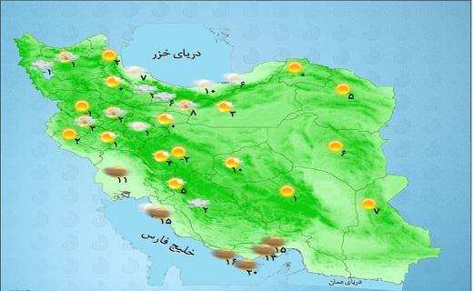 افزایش دما و جوی پایدار در اکثر مناطق کشور/ کمینه دمای تهران ۵ درجه سانتی گراد+ جدول