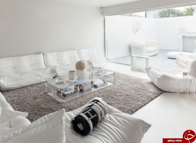 انتخاب رنگ سفید به عنوان رنگ اصلی برای دکوراسیون+تصاویر