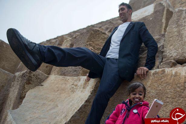 ملاقات شگفتانگیز قدبلندترین مرد جهان با کوتاهترین زن دنیا! + تصاویر