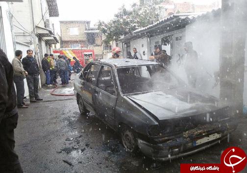 دو حادثه در ساری بدون تلفات جانی +تصاویر