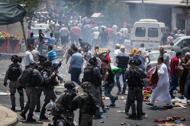 درگیری فلسطینیها با اشغالگران در جنوب غرب جنین در کرانه باختری