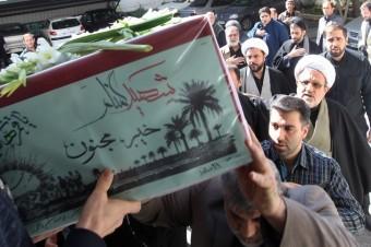 مراسم تشیع دو شهید گمنام در سازمان تبلیغات اسلامی برگزار شد