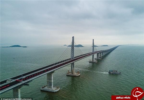 رونمایی از طولانیترین پل دریایی جهان+تصاویر