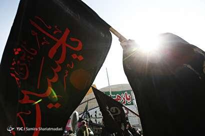 باشگاه خبرنگاران -تجمع فاطمیون تهران در روز شهادت حضرت زهرا (س) در میدان هفت تیر
