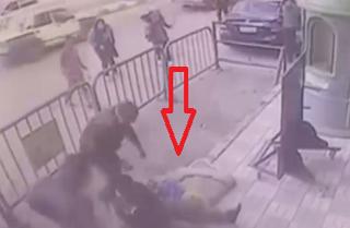 سقوط کودکی از طبقه سوم روی سر یک مامور امنیتی+فیلم