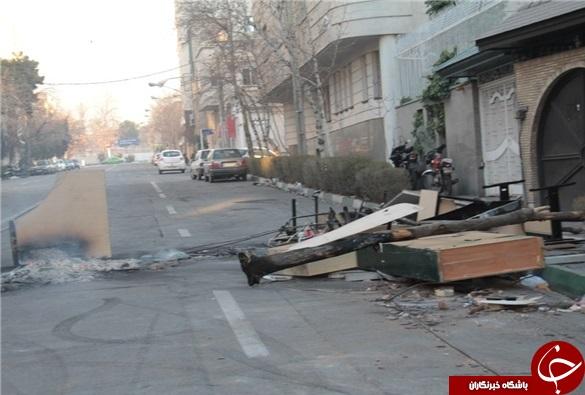 خیابان پاسداران پس از اغتشاشات دراویش به روایت تصویر