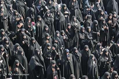 باشگاه خبرنگاران -تجمع فاطمیون تهران در روز شهادت حضرت زهرا(س) در میدان شهید طهرانی مقدم