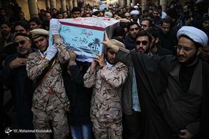 باشگاه خبرنگاران -مراسم تدفین شهدای گمنام در مدرسه علمیه مروی