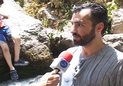 آبشار آب سفید عروس آبشارهای ایران / آبشاری که از دل صخره بیرون میزند+ تصــاویر