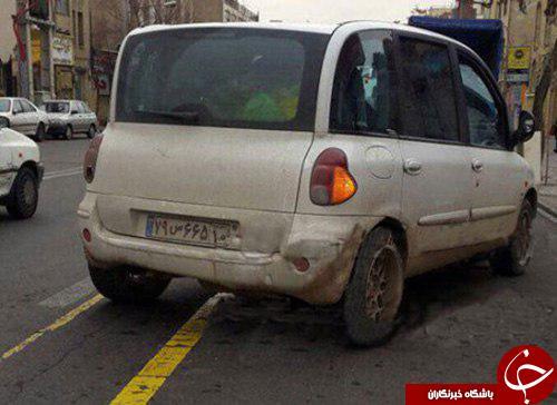 تردد زشت ترین خودروی دنیا در تهران+تصاویر