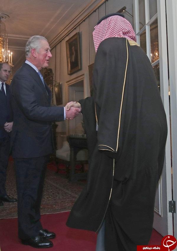 ضیافت شام ولیعهد انگلستان برای همتای سعودی خود+ تصاویر