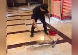 عید/// هنر خیره کننده مرد چینی در نظافت + فیلم