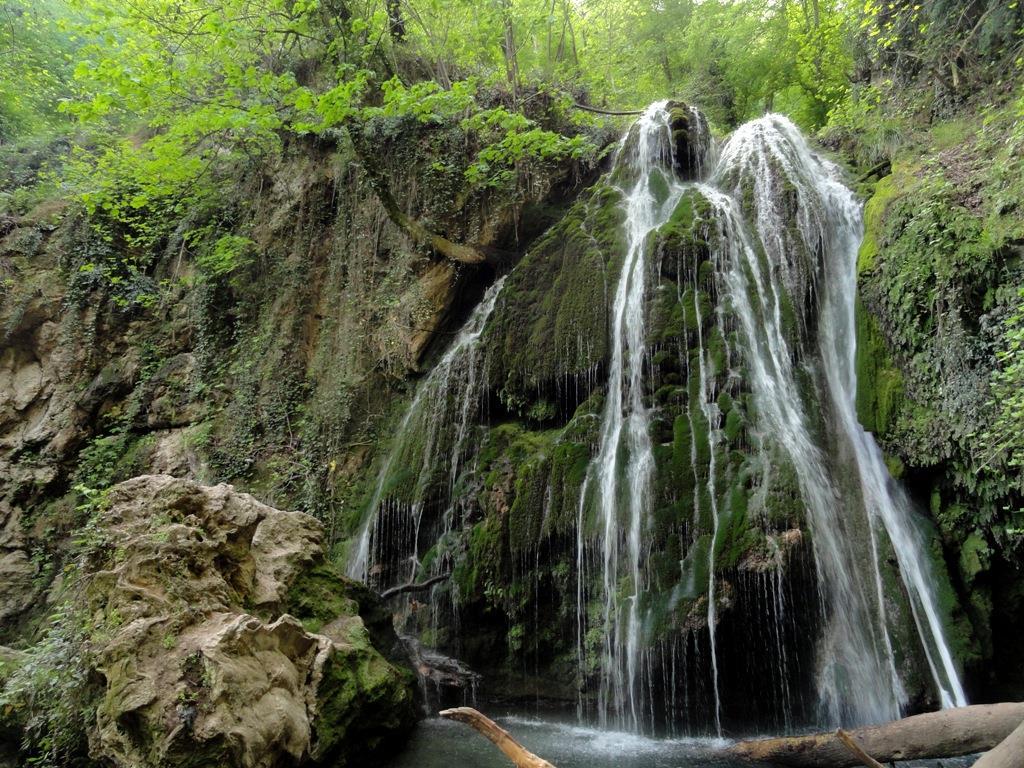 تنها آبشار خزهای جهان در بهشت جنگلهای گلستان ////دیوی نوروز