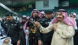 رقص ملک سلمان در کنار شاهزاده میلیارد سعودی+ تصاویر و فیلم