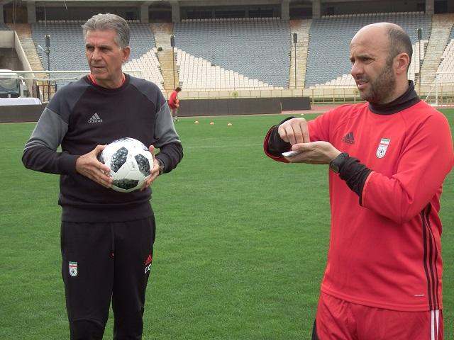 تمرین تیم ملی فوتبال با توپهای جام جهانی ۲۰۱۸