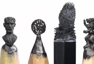 طراحی مجسمه های مینیاتوری رو نوک مداد +فیلم