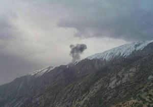 افراد محلی تا دقایقی دیگر به لاشه هواپیمای ترکیهای میرسند