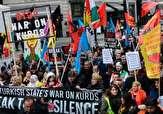 صدها نفر در شهر منچستر در اعتراض به حملات ترکیه در سوریه تظاهرات کردند