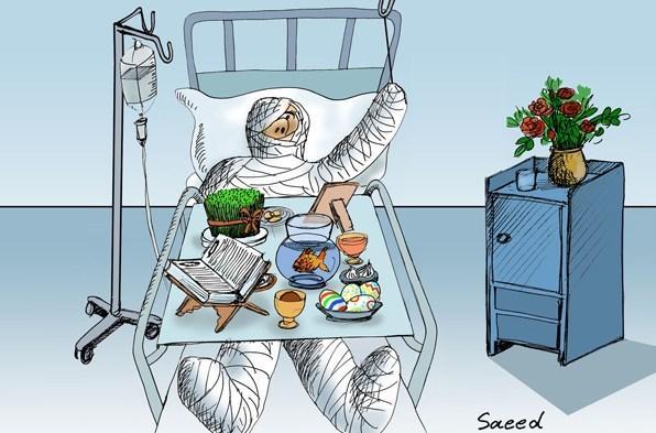 نقاشی در مورد خطرات چهارشنبه سوری