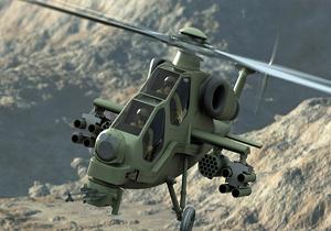 بالگرد تی ۱۲۹ ترکیه در حال هدف قرار دادن نیروهای کرد در عفرین +فیلم