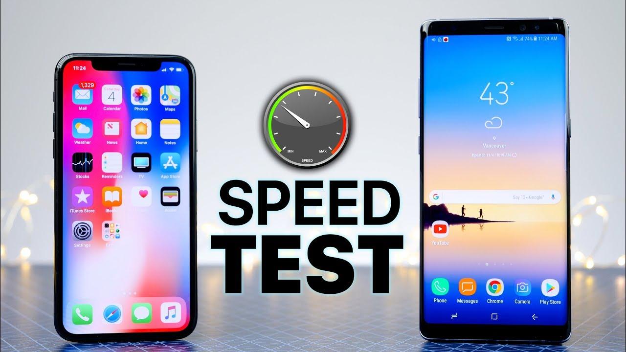 مقایسه سرعت Galaxy S9 Plus و iPhone X / سرعت کدام بیشتر است؟ +فیلم