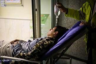 مصدومان چهارشنبه سوری - بیمارستان سوانح سوختگی مطهری