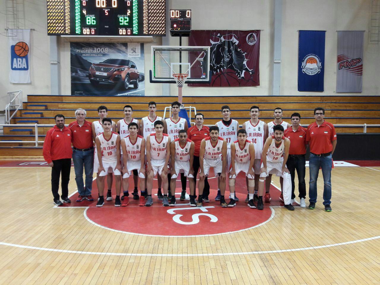شکست تیم ملی نوجوانان بسکتبال ایران برابر تیم صربستان