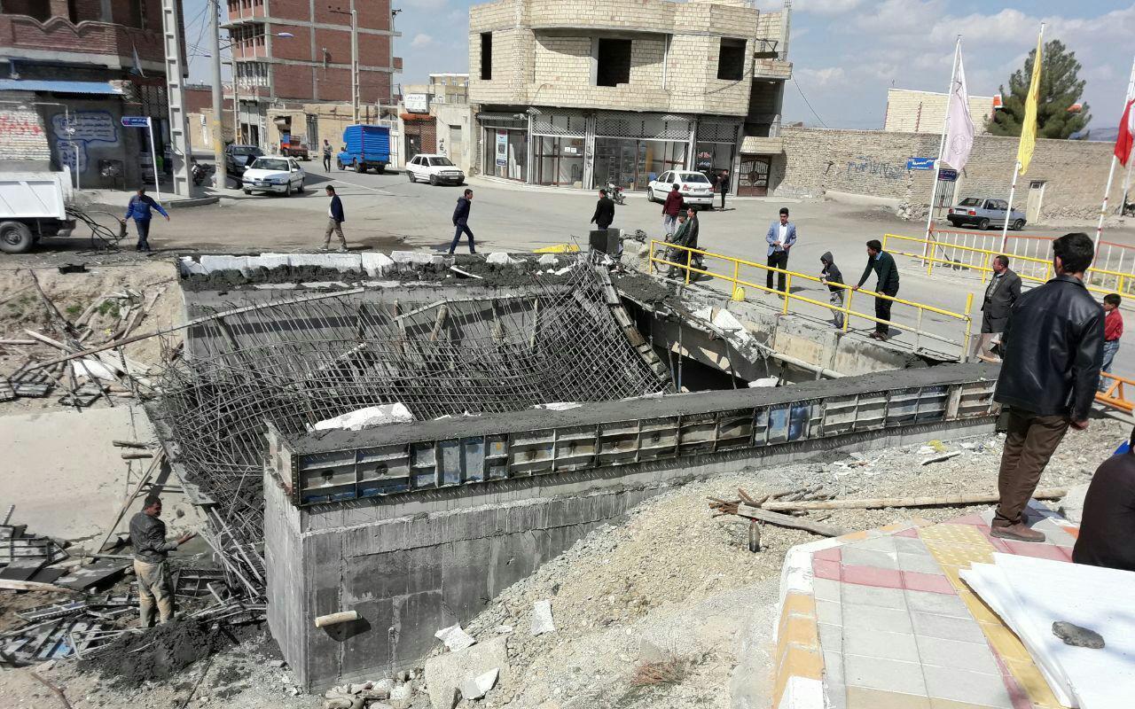 باشگاه خبرنگاران -ریزش پل در حال احداث مبارک شهر ملکان