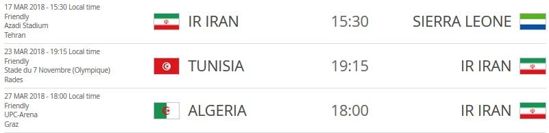 فیفا، 3 دیدار دوستانه تیم ملی ایران را در راه جام جهانی تایید کرد+ عکس