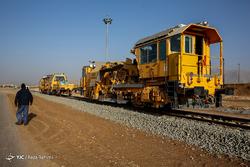 آخرین مراحل آماده سازی راه آهن کرمانشاه