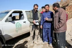 قرارگاه جهادی امام رضا در مناطق زلزله زده کرمانشاه
