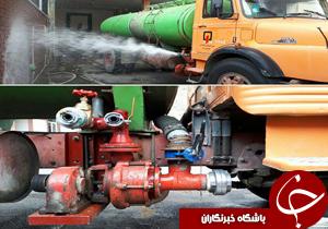 نصب پمپ اطفا حریق بر روی تانکر ایستگاه شماره ۷ سازمان آتش نشانی خرم آباد+عکس