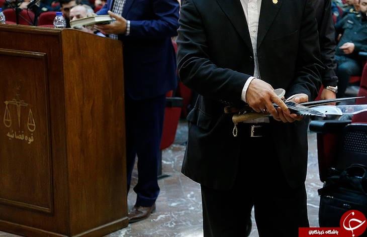 تصاویری از سلاح دراویش در دادگاه