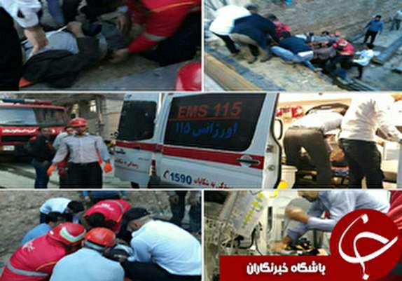 باشگاه خبرنگاران - سقوط یک کارگر از ساختمان مسکونی در خرم آباد+عکس