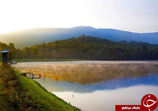 دریاچه رویایی الندان مقصد هزاران گردشگر داخلی و خارجی
