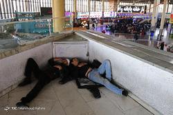 مسافران نوروزی در پایانه مسافربری جنوب تهران