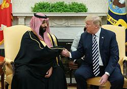 دیدار ترامپ و بن سلمان در کاخ سفید/ رئیسجمهور آمریکا: خواهید دید درباره برجام چه تصمیمی میگیرم