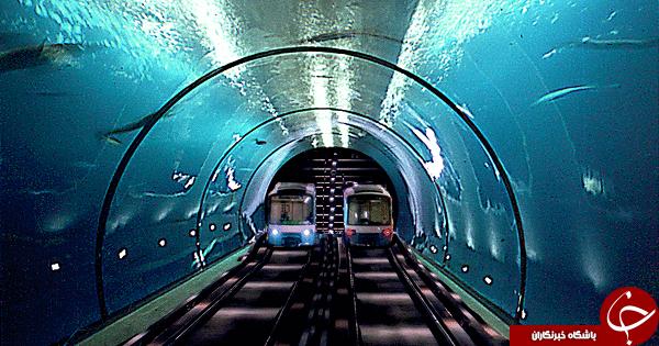ایستگاه مترویی جالب در اعماق آب + تصاویر