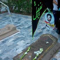 برگزای آئین یادبود شهید مدافع حرم توسط وزیر ورزش و جوانان