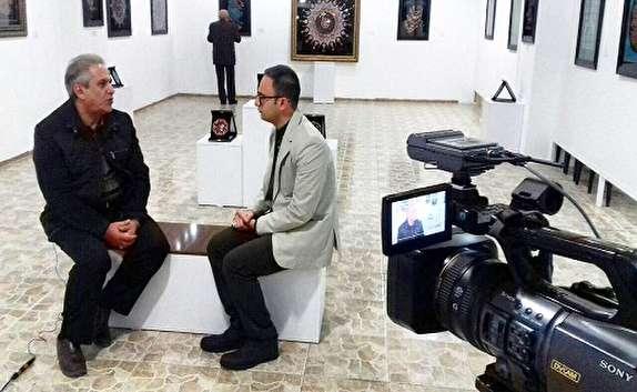 باشگاه خبرنگاران -نمایشگاه معرق فلز در نگارخانه ميلان اروميه افتتاح شد