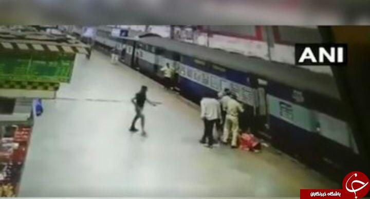 اتفاق وحشتناک برای زن جوان در ایستگاه قطار + فیلم