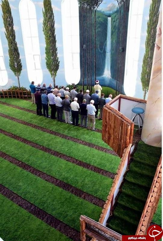مسجدی که دست کمی از باغهای بهشتی ندارد+تصاویر