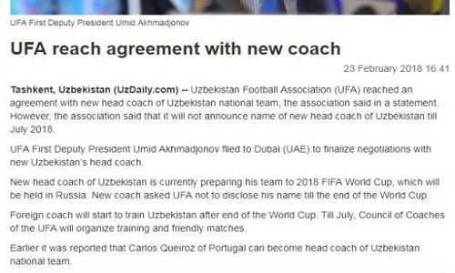 کی روش پس از جام جهانی در ازبکستان