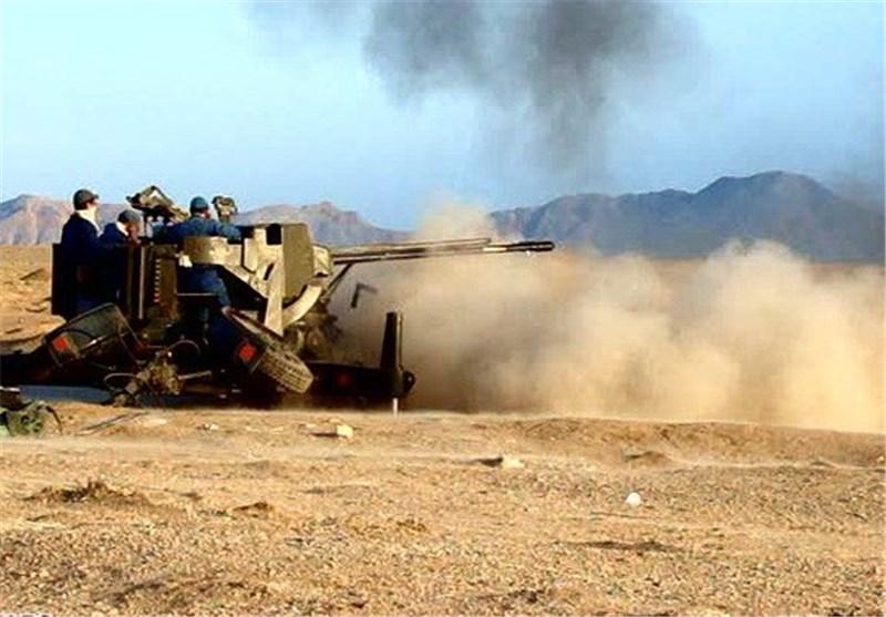 رزمایش تسلیحات ارتفاع پست قرارگاه پدافند هوایی برگزار شد