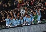 باشگاه خبرنگاران - لحظه دریافت جام قهرمانی اتحادیه انگلیس توسط منچسترسیتی +فیلم