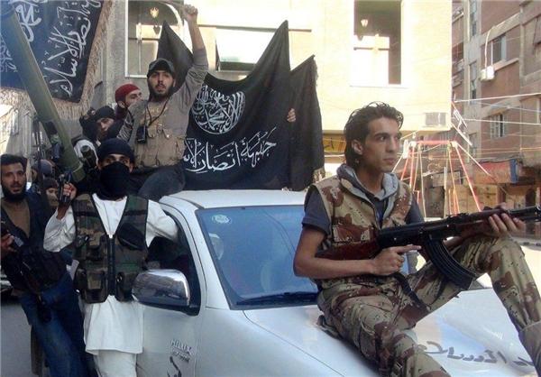 درگیری دو گروه مسلح تروریستی مناطقی از اطراف حلب سوریه