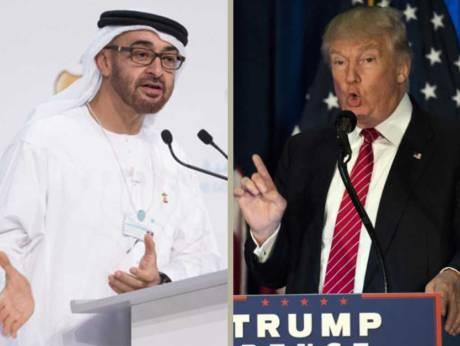 الجزیره: ترامپ تلفنی با ولیعهد ابوظبی درباره ایران گفتگو کرد