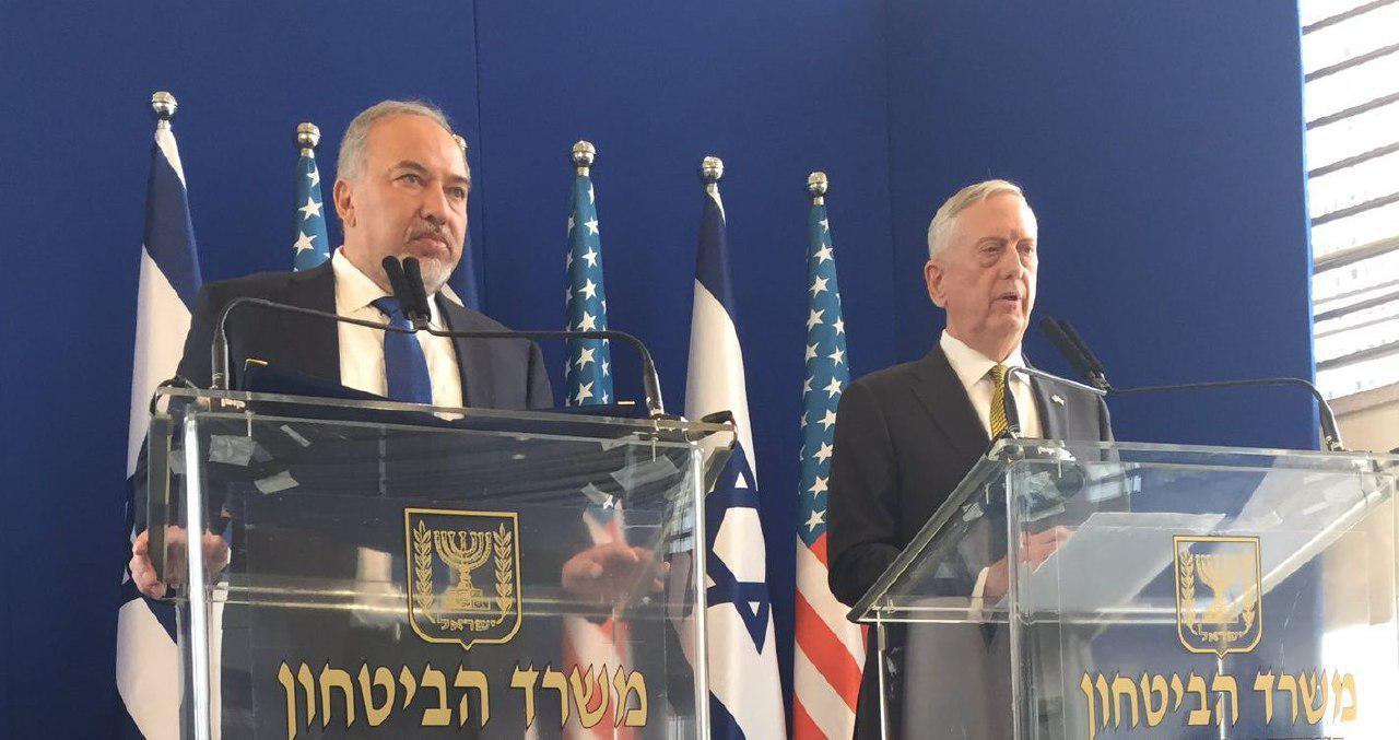 متیس: باید در توافق هستهای بازنگریهایی صورت گیرد/ لفاظی لیبرمن: ایران حلقه اصلی زنجیر محور شرارت است