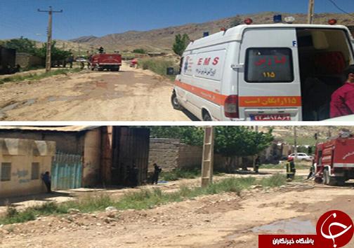 آتش سوزی در انبار کارخانه پنبه زنی حادثه آفرید + تصاویر